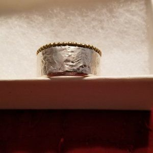 Silpada Dotted Trim Ring Size 7